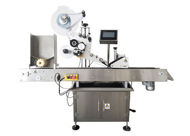 Small Horizontal Label Applicator Machine , Automatic Vial Labeling Machine