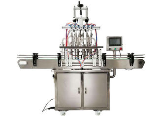 1 2 4 6 Head Automatic Liquid Filling Machine 304 Stainless Steel Material