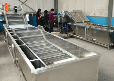 China Industrial Vegetable Washing Equipment 800 Kg/H Capacity Save Water High Efficiency supplier