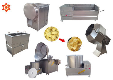 Industrial Small Scale Potato Chip Making Machine With 1 Year Warranty