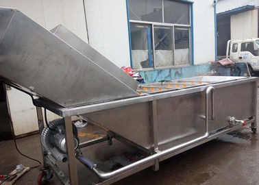 China Stainless Steel Vegetable Processor Machine , Fruit Vegetable Washer Machine factory