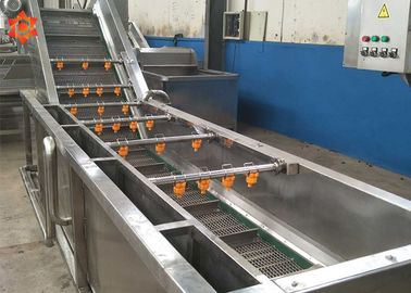 China SUS304 Stainless Steel Commercial Vegetable Washer 380V / Customized Voltage distributor